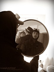 Dead Poets (LissyLoveless!) Tags: sepia dead mirror spiegelbild poets