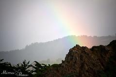 10.365 Somewhere... (mimumau) Tags: sunshine rain hail rainbow bigsur pfeifferbeach therearentthatmanysongsaboutrainbows