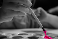 Pink (Suggsy69) Tags: bw colour painting blackwhite nikon paint explored d5100 explored140113 monochromepinkselective