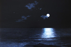 Moon over Boca (cafe thou art) Tags: ocean art beach painting photo florida fineart moonlight boca oilpainting packard handpainting greatart cafethouart stunningphotos