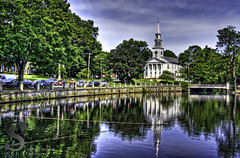 Milford pond and Church- (Singing With Light) Tags: photography pentax ct august milford 2012 k5 jjp singingwithlight 2012ctjjpk5milfordmusicsingingwithlightaugustcafeatlantiquefamilyfriendspentaxphotography