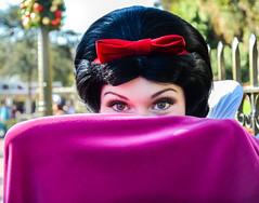 Smeyes (EverythingDisney) Tags: red eyes princess disneyland disney resort bow cape snowwhite dlr smeyes