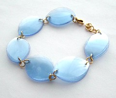 Blue bracelet (d'ekoprojects) Tags: recycled handmade jewelry ecofriendly handmadejewelry upcycled jewelryset recycledjewelry ecofriendlyjewelry upcycledjewelry