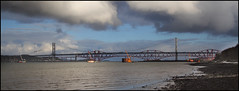 Forth Bridges No3 - 19-01-13a (jimreid78) Tags: bridge forth forthbridges newforthcrossing