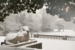 CP Snow - 72 | Snow Sphinx (Paul Dykes) Tags: uk winter england snow london sphinx january southeast crystalpalace crystalpalacepark 2013 uppernorwood
