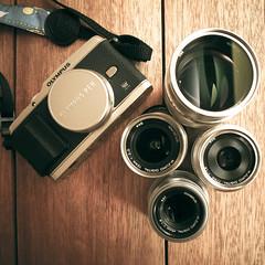 *奧林巴斯銀魔套餐 (里卡豆) Tags: pen olympus 12mm f18 45mm ep3 75mm f20 17mm mzd