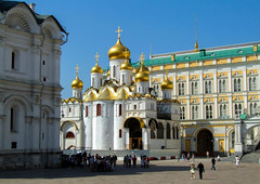 The Cathedral Of Annunciation Inside The Kremlin Walls (Explored) (Butch Osborne) Tags: gold cathedral russia moscow kremlin cathedralsquare cathedralofannunciation russianrivercruise2007