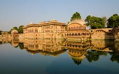 Deeg Palace - Deeg, Rajasthan, India (Debojit Deb) Tags: reflection wideangle palace rajasthan deeg waterpalace wideanglephotography tokina1116mmf28 deegpalace debojitdeb nikond7000 nikond7000tokina1116mm palacesinrajasthan skybuildingwater
