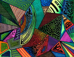 Transition 2500px (Sam Bernal, Artist) Tags: abstract vibrant patterns brightart