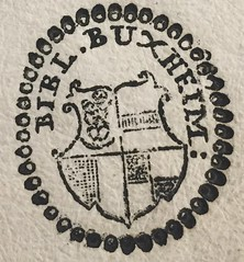 Stamp -- inked: Carthusian Monastery at Buxheim (Bryn Mawr College Library) (Provenance Online Project) Tags: nuremberg specialcollections 1486 kobergerantonapproximately14401513 stampinked deaccessionmark brynmawrcollegelibrary carthusianmonasteryatbuxheim brynmawrcollegelibraryfb781 boethius524