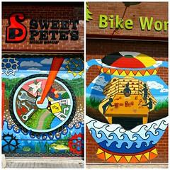 Sweet Pete's Bike Shop (LEFT) and Bike Works, Evergreen Brick Works, Toronto, ON (Snuffy) Tags: toronto ontario canada bikeworks evergreenbrickworks sweetpetesbikeshop