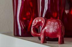 Red Elephant (Doug.Mall) Tags: dogwood52 52weeks animals artistic challenge color elephant mammal nature photochallenge art red statue northcarolina usa
