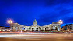 Kazan Cathedral, Saint Petersburg (ZX-6R) Tags: abstract arch architecture blue cathedral christophefaugere citystreet color dusk effects europe hour kazancathedral keywords landscape longexposure nightlandscape orthodox panorama panoramic religion religious russia saintpetersbourg saintpetersburg soviet tourism touristic travelphotographer travelphotography travels unesco world arches bluehour historical landmark monument sovietunion sovietik travel travelling  wow