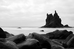 Poseidon's black castle (dellannadavide) Tags: tenerife ocean rocks sea waves nature wild blackandwhite blackwhite biancoenero longexposure neutraldensity ndfilter filter nd canaryislands canary playa beach blacksand black majesty awesome
