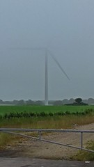in the fog 1059 (M0JRA) Tags: weather clouds sky sun fog rain rainbows wind turbine roads trees fields