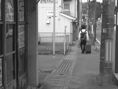 a traveler in the old memory (-ICHIRO) Tags: street snap agfa sensor 505d toy camera
