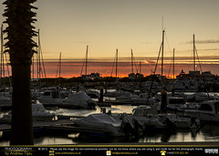 Harbourside Twilight (andrewtijou) Tags: andrewtijou nikond7200 europe spain puntadelmoral costadelaluz port sunset harbour water boats palmtrees es