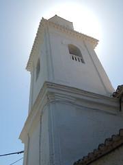 28. (Seweet) Tags: contraluz carataunas torre iglesia church blanco cielo sol white sky towel andaluca granada alpujarra