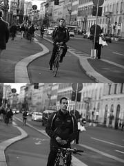 [La Mia Citt][Pedala] (Urca) Tags: milano italia 2016 bicicletta pedalare ciclista ritrattostradale portrait dittico nikondigitale mir bike bicycle biancoenero blackandwhite bn bw 881152