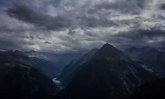 Alps of Mordor (Marcus Rahm) Tags: landscape landschaft austria alpen zillertal zillertaleralpen speicher zillertalerhauptkamm berge berg mountain mountains wolken clouds cloudy bewlkt tirol valley tal stausee