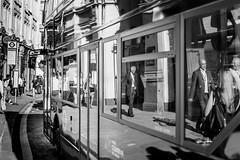 On The Buses (Sean Batten) Tags: blackandwhite london england unitedkingdom gb bw city urban reflection bus tfl nikon df 60mm streetphotography street stpauls