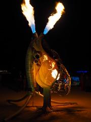Pulse by the Flaming Lotus Girls (michicat) Tags: burningman brc blackrockcity playa nevada burningmanatnight fireart