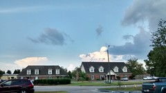 Interesting Sky Above The Buildings. (dccradio) Tags: lumberton nc northcarolina robesoncounty sky clouds bluesky tree trees greenery walnutmanorapartments stormy afterthestorm buildings architecture apartments