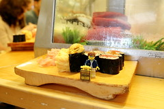 Travels of badger - Sushi at the Tsukiji Fish Market (enigmabadger) Tags: brickarms lego custom minifig minifigure fig accessory accessories japan asia vacation trip travel outdoors japanese