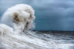 Porthcawl High Tide (karlmccarthy1969) Tags: porthcawl waves sea ocean lighthouse