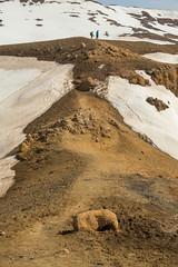 Krafla Viti Crater 09 (sarahmonious) Tags: kraflaviticrater kraftla viti myvatn kraftlavolcano volcanocrater crater hverir snow route1iceland route1 ringroad iceland iceland2016 icelanding2016 traveling