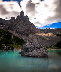 Finger of God (Andrea Lanzilli) Tags: finger god sorapis lake dolomites italy alps landscape colors mountain passo tre croci trekking clouds long exposure panorama water