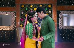 . (mohammad jobaed) Tags: jobaedkhanphotography jobaedkhan wedding couplephotography couple holud ctg sylhet bangladesh night jobaedkhanflickr green t yellow love bride portrait