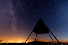 Pyramid of the Mt-Tendre, Switzerland (Pascal Dentan) Tags: 1 leman lac colors ciel sky lacte voie toile star geneva geneve randonne hiking top night 2016 monttendre nuit photographie haveaniceday