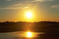 double sun (f.tyrrell717) Tags: sun orange set double whit bogs