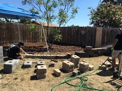 Getting a new retaining wall (Anna Sunny Day) Tags: retainingwall