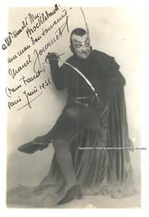 JOURNET, Marcel, Mphisto, Faust, Opra de Paris, 1931 (Operabilia) Tags: autograph claudepascalperna goldenage opera marceljournet mphistophls gounod faust opradeparis