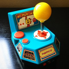 Namco Plug & Play joystick controller featuring arcade versions of Ms Pac-Man, Pole Position, Galaga, Xevious, and Mappy.  #Namco #plugandplay #videogames #retrogaming #mspacman #galaga #xevious #mappy #poleposition (djdac) Tags: namco plugandplay videogames retrogaming mspacman galaga xevious mappy poleposition