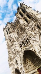 Cathdrale d'Amiens (80) (PhotOw'graphie) Tags: cathedrale amiens somme 80 france picardie glise religion catholique gothique notredame monument ciel nuage hauteur grand