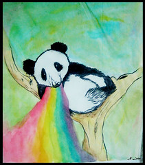 Bomitando arcoiris ( Niels Len  Ilustracin - sketch/Portafol) Tags: draw drawing colores color dibujo chile santiago art arte acuarela watercolor acrlico ilustration ilustracion work urban urbano city ciudad animales animals