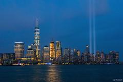 911 Tribute in Light 2016 ( drunkcat) Tags: hudsonriver downtownmanhattan newyorkcity 911tributeinlight