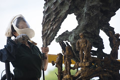 Greg Wyatts Price of Freedom sculpture undergoes yearly maintenance (Arlington National Cemetery) Tags: arlingtonnationalcemetery anc arlington va virginia priceoffreedom sculpture welcomecenter artwork maintenance annual yearly unitedstatesofamerica