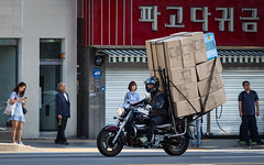 (seua_yai) Tags: asia korea southkorea korean seoul urban city street wheels korea2015 urbanmobility go koreaseoul2016 motorbike motorcycle