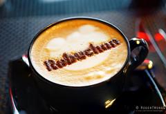 20160903-06-Branded coffee at Joel Robuchon Cafe in Hong Kong (Roger T Wong) Tags: 2016 hongkong iv metabones rogertwong sigma50macro sigma50mmf28exdgmacro smartadapter sonya7ii sonyalpha7ii sonyilce7m2 cappuccino travel