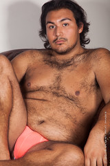 IMG_3336 (DesertHeatImages) Tags: ravyn reyes latino hispanic phoenix cub bear hairy lgbt pitt bare chest jock thong