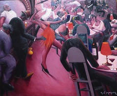 Chicago, Art Institute, America after the Fall: Painting in the 1930's, Saturday Night, 1935 (Artist: Archibald J. Motley) (Mary Warren (7.3+ Million Views)) Tags: chicago artinstitute artinstituteofchicago art painting archibaldjmotley bar dance