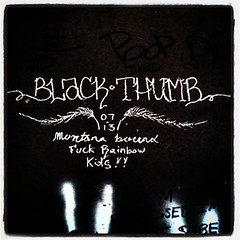 "BLACK THUMB ""montana bound"" ((team enemy)...) Tags: instagramapp square squareformat iphoneography uploaded:by=instagram lofi black thumb blackthumb montana bound fuck rainbow kids montanabound hobo graffiti moniker cheyenne wyoming monikers"