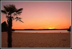 Coucher de soleil sur le lac de Biscarrosse (Les photos de LN) Tags: lac biscarrosse landes aquitaine sunset couleursdusoir crpuscule ros orangemauve lumire siblu villagevacances larserve