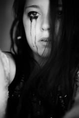 Werkontrast (Arr Hart) Tags: arrhart arr hart portrait woman emotion sad dark bokeh tears cry eyes self selfportrait monochrome bw sw light fear pain
