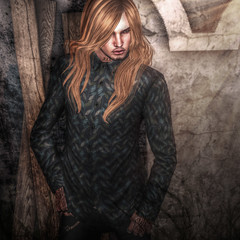 sharp by [ZD] JAZ SLIM DRESS SHIRT leaves for MOH8 (Cecilia Blachere) Tags: sharp by zd jaz slim dress shirt moh8 gift
