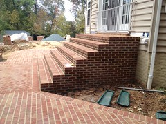 construction (21) (The Sharper Cut Landscapes) Tags: brick walkway steps patio thesharpercutlandscapes thesharpercut landscapedesign landscaping landscapelighting